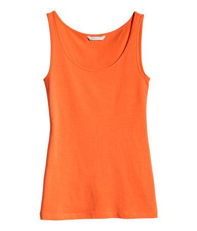 Трикотажная майка (Оранжевый)