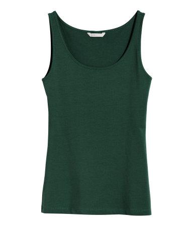Трикотажная майка (Темно-зеленый)