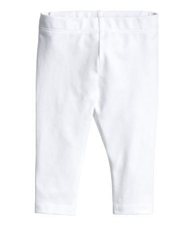 Трикотажные легинсы (Белый)