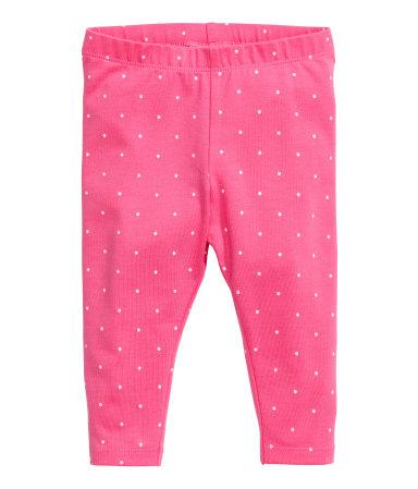 Трикотажные легинсы (Розовый)