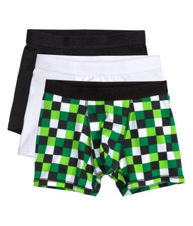 3 пары боксеров (Зеленый)