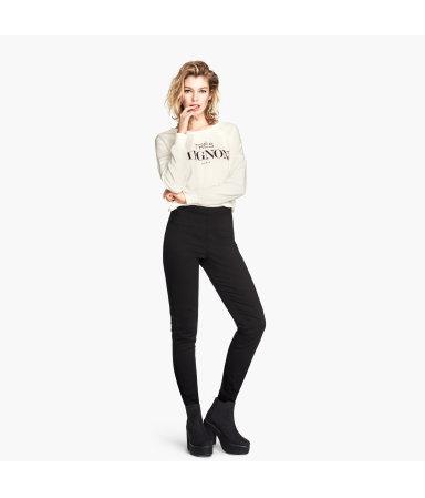 Эластичные брюки (Черный)