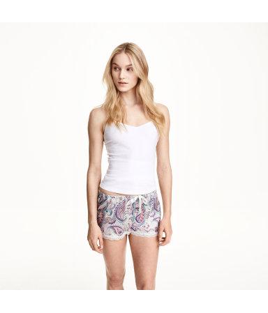Пижамные шорты 2 шт. (Белый/Пейсли)