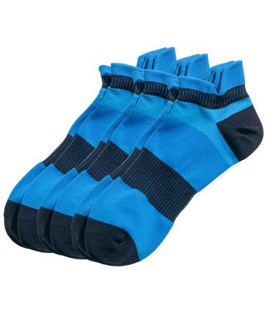 3 пары спортивных носков (Голубой)