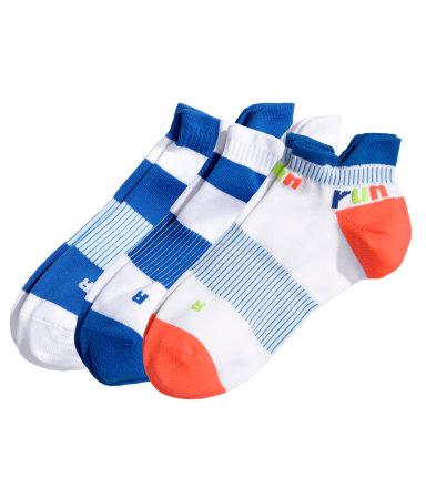 3 пары спортивных носков (Неоновый оранж.)