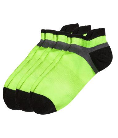 3 пары спортивных носков (Неоновый зеленый)