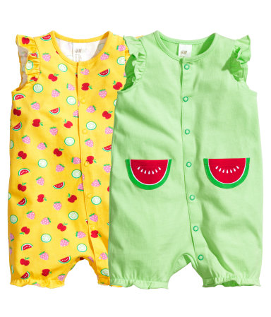2 пижамы (Зеленый)