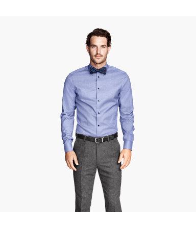 Рубашка из хлопка премиум (Голубой)