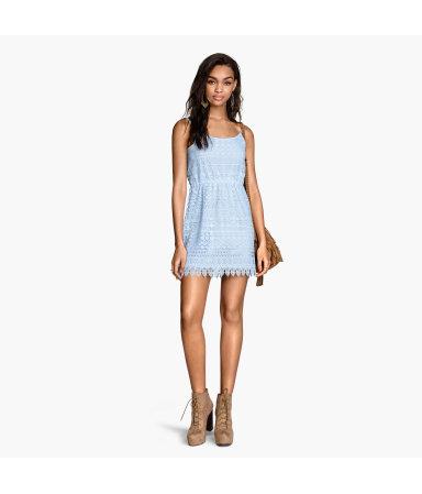 Кружевное платье (Голубой)