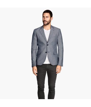Меланжевый пиджак (Синий)