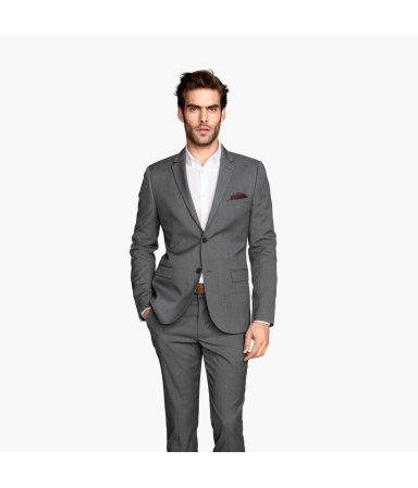 Пиджак Slim fit (Темно-серый)
