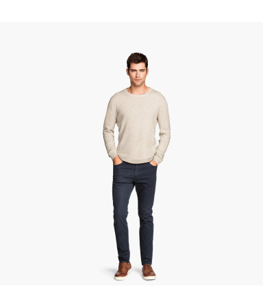 Тиловые брюки Skinny fit (Темно-синий)