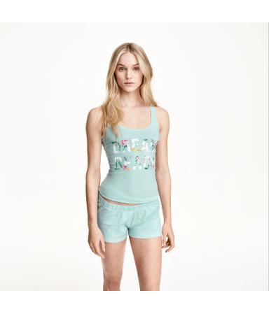 Трикотажная пижама (Светло-бирюзовый)