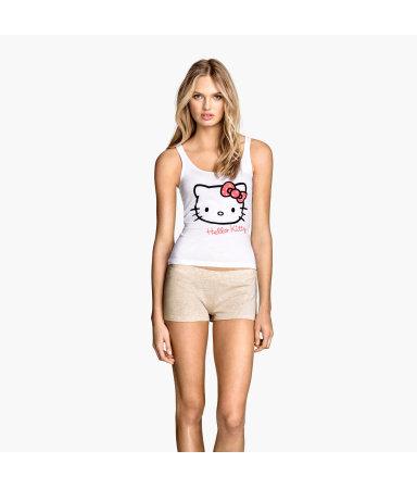 Трикотажная пижама (Белый/Hello Kitty)