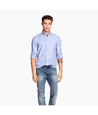 Х/б рубашка (Голубой)