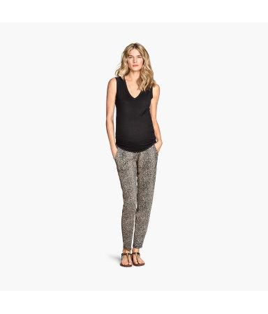 МАМА Трикотажные брюки (Черный)