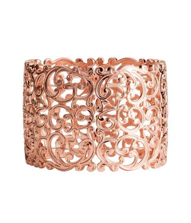 Широкий браслет (Розовато-золотистый)