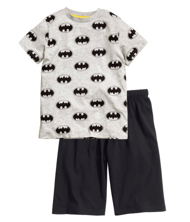 Трикотажная пижама (Серый/Бэтмен)