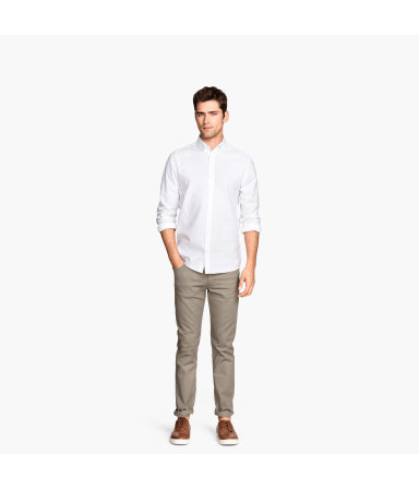 Твиловые брюки Slim fit (Бежевый)