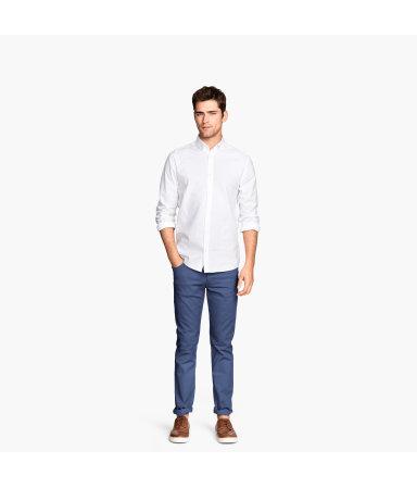 Твиловые брюки Slim fit (Темно-синий)