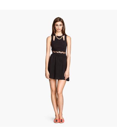 Платье с вырезами (Черный)