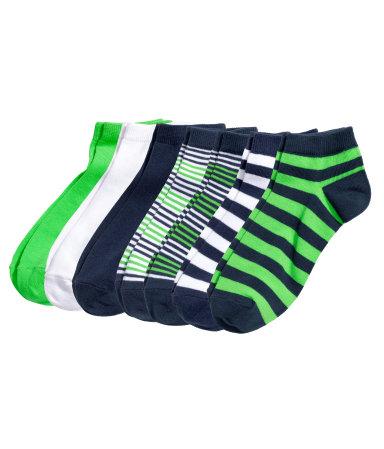 7 пар коротких носков (Темно-синий)