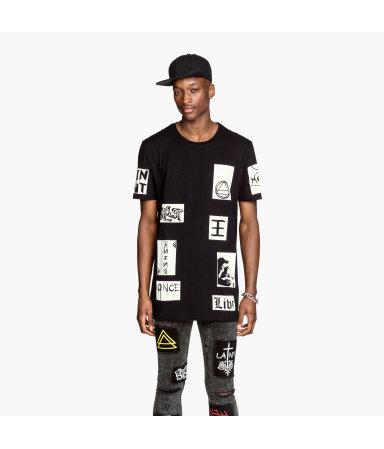 Длинная футболка (Черный)