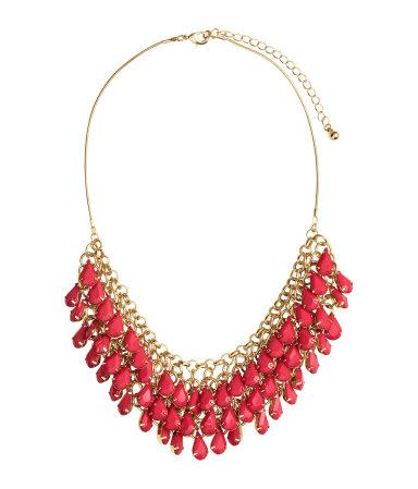 Ожерелье с подвесками (Красный)