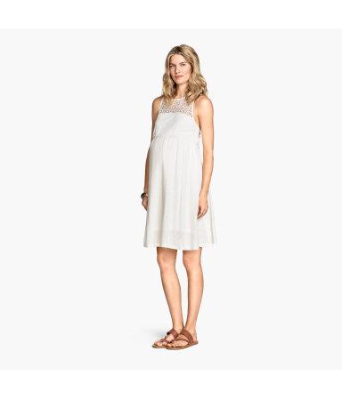 МАМА Трикотажное платье (Натур.белый)