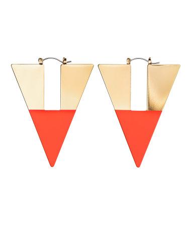 Серьги треугольной формы (Золотистый)
