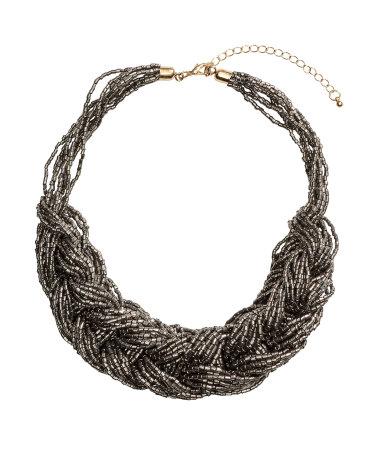 Плетеное ожерелье (Темно-серый)