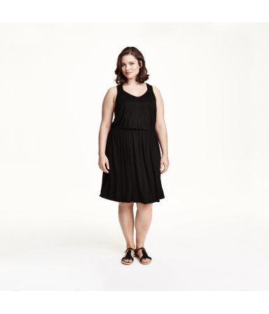 H&M+ Трикотажное платье (Черный)