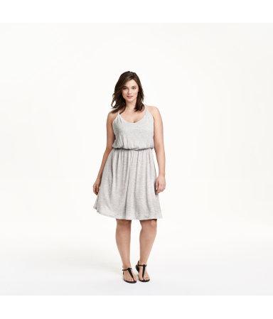 H&M+ Трикотажное платье (Серый)