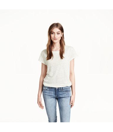 Льняная футболка (Белый)