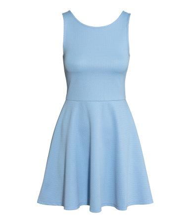 Трикотажное платье без рукавов (Светло-голубой)
