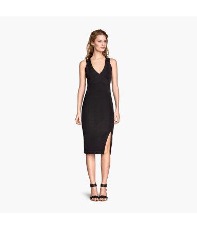 Облегающее платье (Черный)