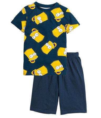 Трикотажная пижама (Синий/Симпсоны)