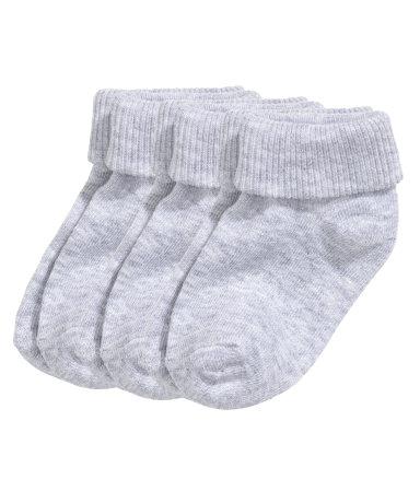 Носки, 3 пары (Серый)