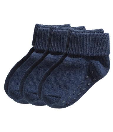 Носки, 3 пары (Темно-синий)