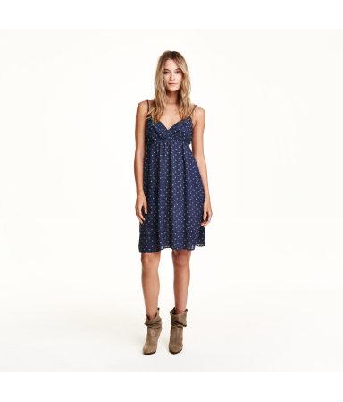 Платье с рисунком (Темно-синий рисунок)