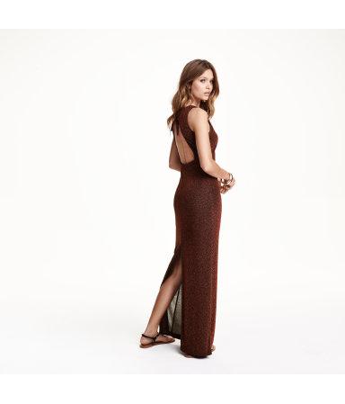 Длинное платье с блестками (Черный/Блестки)