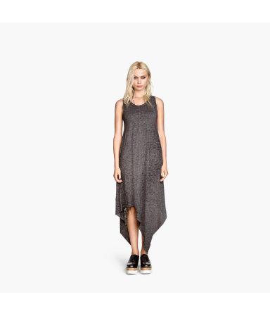 Платье асимметричного кроя (Темно-серый)