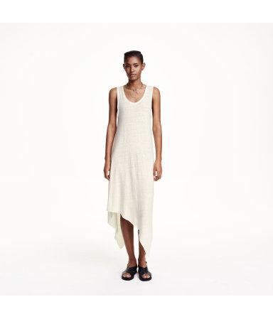 Платье асимметричного кроя (Белый)