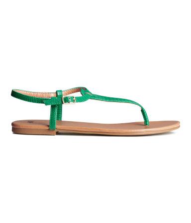 Открытые сандалии (Зеленый)