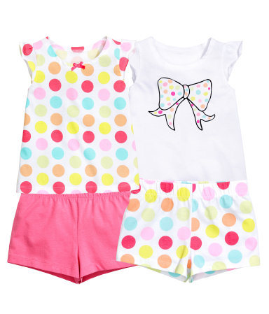 2 трикотажных пижамы (Белый)
