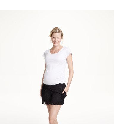 МАМА Кружевные шорты (Белый)