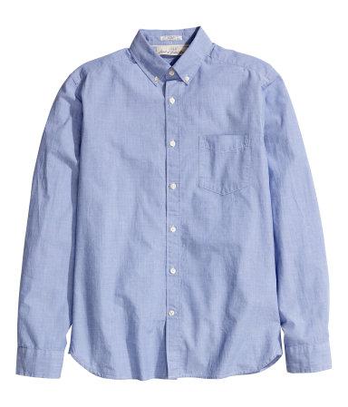 Рубашка из хлопка (Синий)