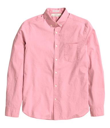 Рубашка из хлопка (Розовый)
