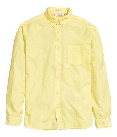 Рубашка из хлопка (Желтый)