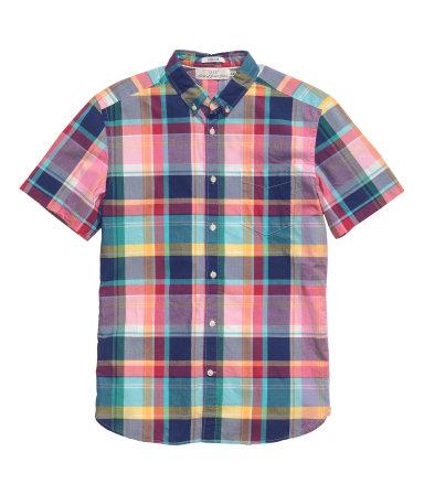 Рубашка с коротким рукавом (Розовый)